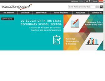 education.gov.mt screenshot