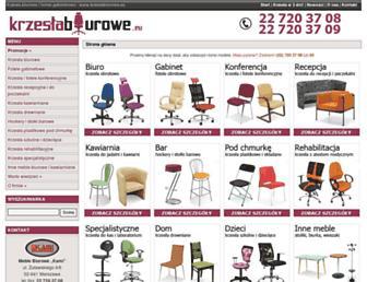 Main page screenshot of krzeslabiurowe.eu