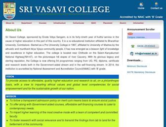 srivasavi.ac.in screenshot