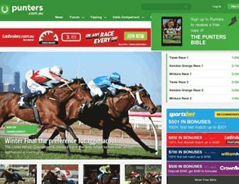 punters.com.au screenshot