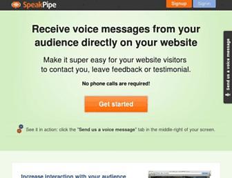 speakpipe.com screenshot