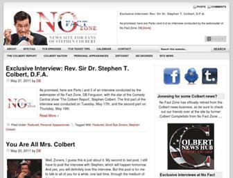 Main page screenshot of nofactzone.net