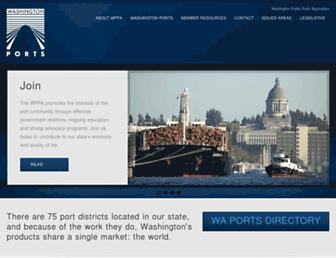 Main page screenshot of washingtonports.org