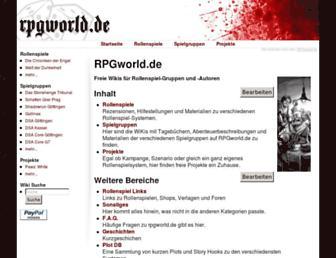Main page screenshot of rpgworld.de