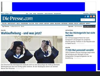diepresse.com screenshot