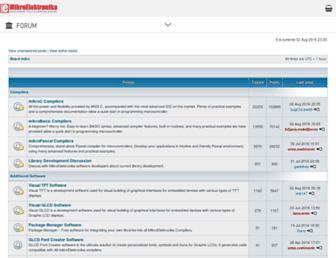 forum.mikroe.com screenshot