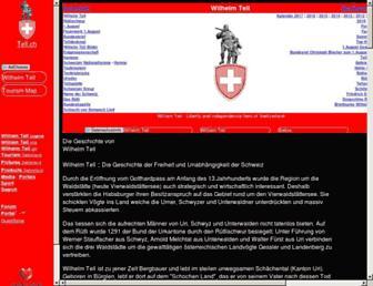 Main page screenshot of tell.ch