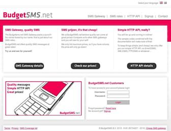 budgetsms.net screenshot