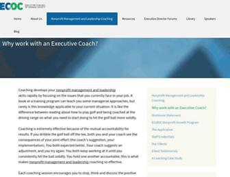 Main page screenshot of ecofoc.org