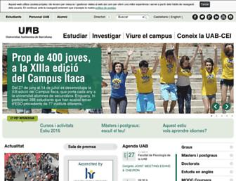 Main page screenshot of uab.es