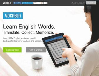 vocabla.com screenshot
