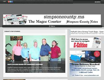 simpsoncounty.ms screenshot