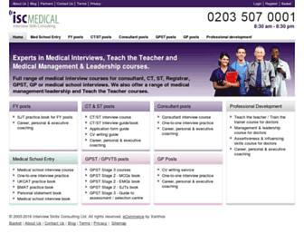 medical-interviews.co.uk screenshot