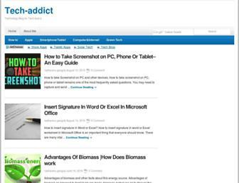 the-tech-addict.com screenshot