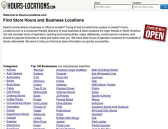hours-locations.com screenshot