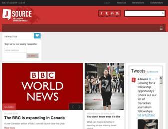 Main page screenshot of j-source.ca