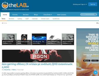 Main page screenshot of thelab.gr