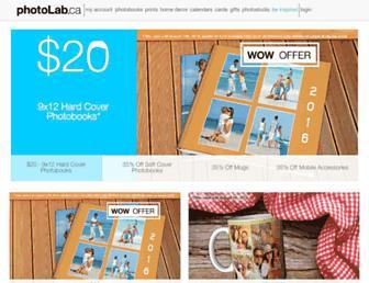 Main page screenshot of photolab.ca