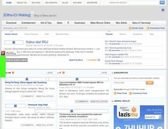 Main page screenshot of elitha-eri.net