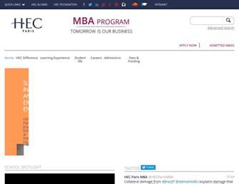mba.hec.edu screenshot