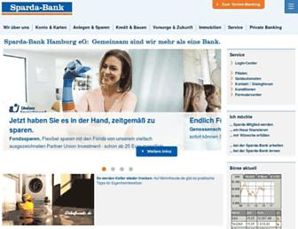 Main page screenshot of sparda-bank-hamburg.de