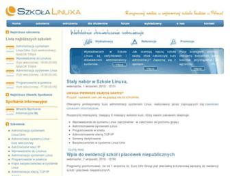 Main page screenshot of szkolalinuxa.pl