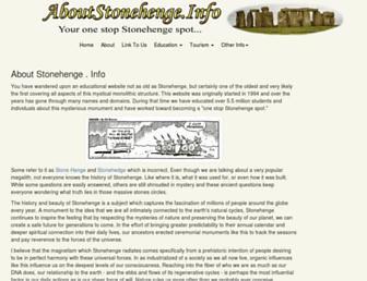 Main page screenshot of aboutstonehenge.info