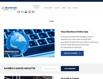 blog.ekomercio.co screenshot