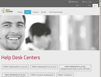 support.printmanager.com screenshot