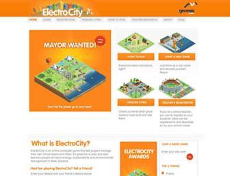Main page screenshot of electrocity.co.nz