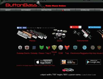 buttonbass.com screenshot