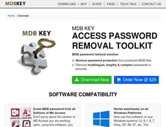 mdbkey.com screenshot