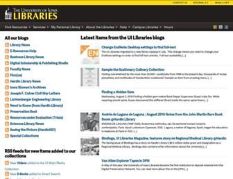 Main page screenshot of blog.lib.uiowa.edu