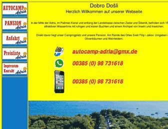 Main page screenshot of autocamp-adria.de