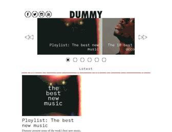 dummymag.com screenshot