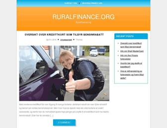 ruralfinance.org screenshot