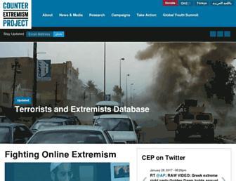 counterextremism.com screenshot