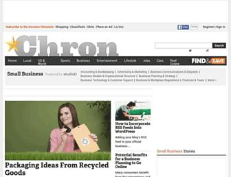 smallbusiness.chron.com screenshot