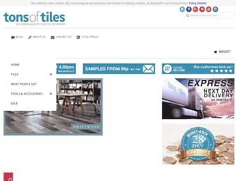 tonsoftiles.co.uk screenshot
