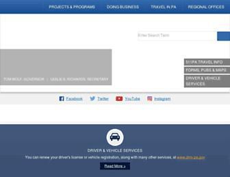 dot.state.pa.us screenshot