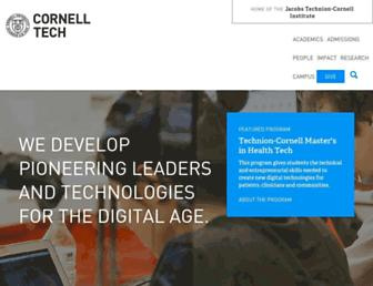 tech.cornell.edu screenshot