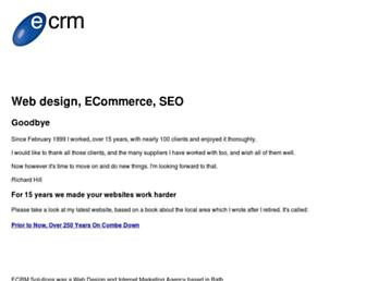 Main page screenshot of e-crm.co.uk