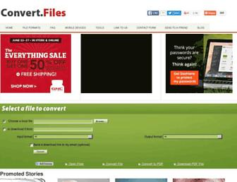 convertfiles.com screenshot