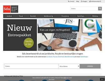 Main page screenshot of sduuitgevers.nl