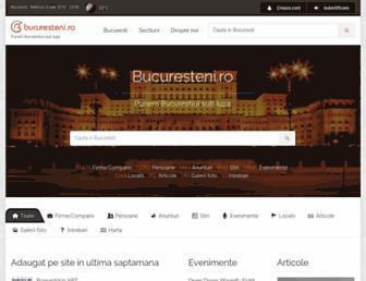 Main page screenshot of bucuresteni.ro