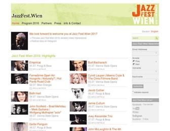 Main page screenshot of viennajazz.org