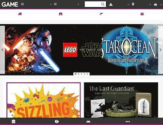 Main page screenshot of game.co.uk