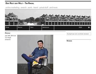 Main page screenshot of timringel.de