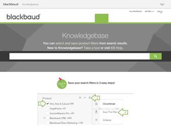 kb.blackbaud.com screenshot