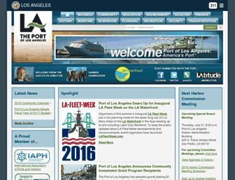 portoflosangeles.org screenshot